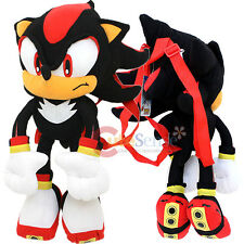 "Sonic The Hedgehog Shadow Plush Doll Bag Custom Backpack  21"" XL Kids to Aduts"