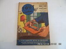 SYSTEME D N°81 09/1952 CUISINIERE A CHARBON CONSTRUIRE UNE MAISON LIT ENFANT H69