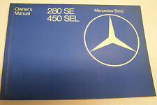 1979 Mercedes 280se 450sel Owners Manual Service Parts W116 new original