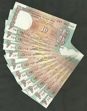 ~ Rs.10/- C.Rangarajan ~ D42 x 10 Consecutive Notes ~ Shalimar Issue ~ UNC ~