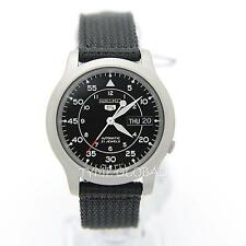 Seiko 5 SNK809K2 Automatic Military Black Nylon Strap Analog Men's Watch