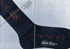 PUBLICITE ADVERTISING 114 1963 STEM chaussettes cravates bas   (2 pages)