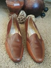 Enzo Angiolini Women's Shoes Slip-On Loafers sz 8.5 Two-Tone Brown Leather