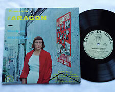 Monique MORELLI Chansons d'Aragon  33 t 25 cm ORIGINAL (1961)CHANT DU MONDE - EX