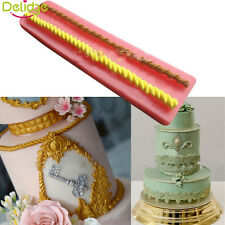 Long Rope Shape Fondant Mold Silicone Sugar Craft Cake Decorating Mould Tools