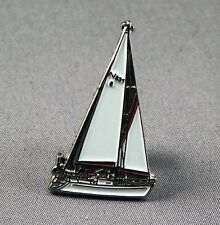 Metal Enamel Pin Badge Brooch Yacht Sail Sailor Marine Captain Boat Sea Ocean