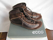 ECCO SOFT BROWN LEATHER ANKLE BOOTS - SIZE 42 (UK 8) - EXCELLENT