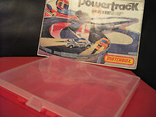 MATCHBOX Powertrack Speedtrack Storage Case / Box for up to 10 Cars x1