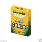 Crayola Anti-Dust Non Toxic White Chalk - 12 x 12 = 144 pk