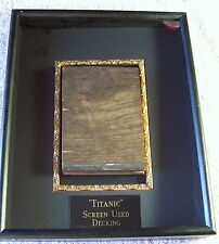 TITANIC MOVIE PROP DECK SECTION FRAMED DISPLAY