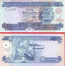 Solomon Islands 5 Dollars(The 3ird edition)BrandNew Banknotes