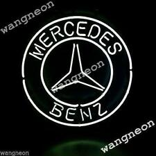 New MERCEDES BENZ LOGO Auto Car Beer Bar Real Neon Light Sign FREE FAST SHIPPING