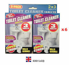 6x TOILET CLEANER TABLETS Kills Germs Smell Fresh Bathroom Cleaning Limescale