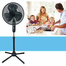 Oscillating Pedestal 16-Inch Stand Fan Quiet Adjustable 3 Speed, Black