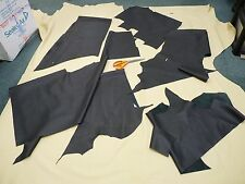 10 SQ FT BLACK PERFORATED GENUINE REAL ITALIAN LEATHER HIDE OFFCUTS BEST QUALITY