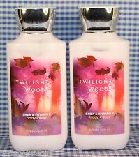 NEW! 2 Bath & Body Works TWILIGHT WOODS Shea & Vitamin E Body Lotion