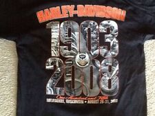 2 Different Harley Davidson Anniversary Shirts Nwot Men's XL