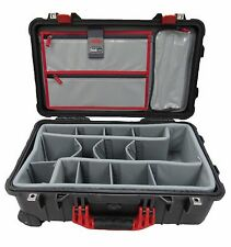 Black & Red Pelican 1510 With Think Tank Dividers & Lid organizer.