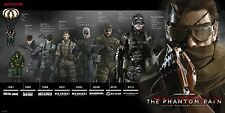 "Metal Gear Solid 5 The Phantom Pain Snake Timeline Silk Poster 40x20"" MGS4"