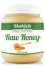 Case of Six 5 lb Jars of 100% Pure Natural FRESH Raw Honey Gluten & Fat Free