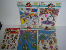 RARE VINTAGE MICKEY MOUSE,MINI MOUSE, DONALD DUCK PUFFY STICKERS LOT GIANT PACK