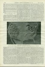 1897 Maps Models Relief Map United States Scientific American vintage article