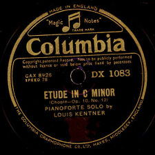 LOUIS KENTNER -PIANO- Chopin: Etude in C Minor / Polonaise in A Major 78' G2984