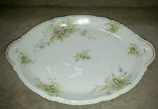 Thomas Haviland French  Limoges Apple Blossom Pink Flowers Serving Platter China