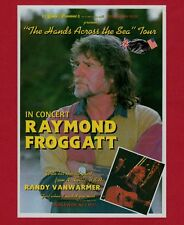 "RAYMOND FROGGATT - Flyer for 1994 ""Hands Across The Sea"" Tour - Randy Vanwarmer"