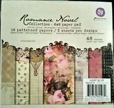 ROMANCE NOVEL by Prima Marketing 6 x 6 Paper Pad DISCONTINUED HTF