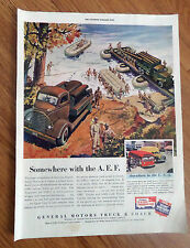 1942 GMC General Motors Truck Coach Ad WW II  Somewhere with the A.E.F.