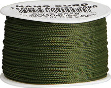 Parachute Cord RG1038 Braided Premium Nylon Olive Green Nano Cord .75mm x 300ft