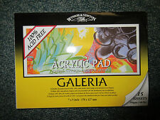 "Winsor & Newton Galeria Acrylic Painting Paper Pad - 15 sheets 300gm 7""x 5"""