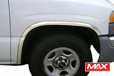 FTCH202 1999-2006 Chevrolet Silverado/1500/2500 Polished Stainless Fender Trim