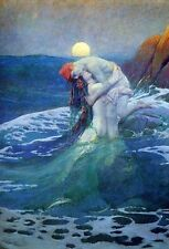 CANVAS HOWARD PYLE The Mermaid Quality Fine Art Giclee Canvas Reproduction