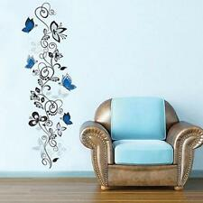 Blue Butterfly Vine Pattern Wall Sticker Decals Mural DIY Art Vinyl Home Decor