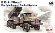 ICM 1/72 BM-21 Grad múltiples sistema de cohete de lanzamiento # 72714