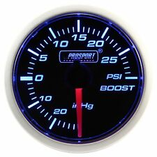 PROSPORT 52mm Blue & White Led Smoke Face Mechanical Boost Gauge PSI