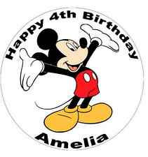 Mickey Mouse Personalised Cake Topper Edible Wafer Paper 7.5""