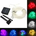 7M 23ft 50LED Solar Rope Tube Led String Strip Fairy Light Xmas Party Waterproof