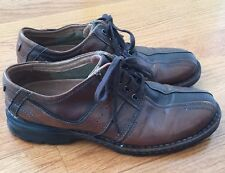 """Clarks 70852 """"Touareg"""" Brown Leather Lace Up Oxford Casual Shoes Mens 11.5"""