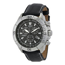 Citizen Men's AT0810-12E Eco-Drive Stainless Steel and Leather Watch