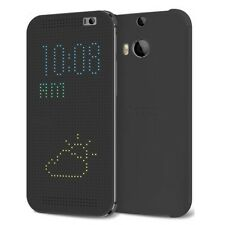 New Genuine HTC ONE M8 Dot View CASE Mobile original cell phone cover warm black