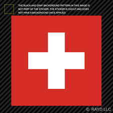 "4"" Swiss Flag Sticker Decal Self Adhesive Vinyl Switzerland CHE CH"