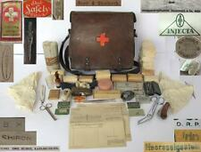 WWII ORIGINAL GERMAN MEDIC FIRST AID BAG w/EQUIPMENT