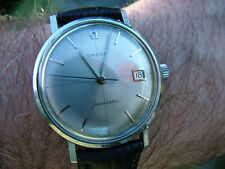 RARE DIAL Omega Seamaster Swiss Watch Vintage 1961 Cross Hairs SERVICED WARRANTY