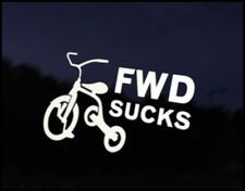 FWD Sucks Car Decal Sticker JDM Vehicle Bike Bumper Graphic Funny