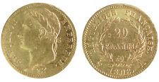 20 Francs Or NAPOLEON IER EMPEREUR - 1808 A PARIS