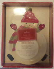 Hallmark Snowman Christmas Serving Plate Spreaders Recipe Christmas Mittens