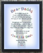 Birthday gift DADDY DAD GRANDAD Personalised Word Art Print Christmas Gift A4 DD